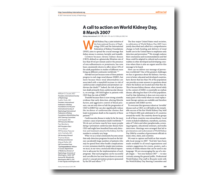 WKD 2007 Scientific Editorial – A call to action on World Kidney Day, 8 March 2007