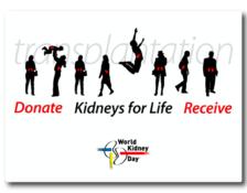 WKD 2012 – Transplantation Silouhettes Poster