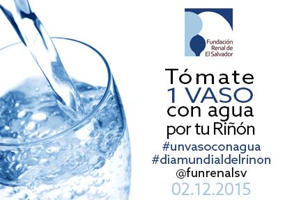 Toma un vaso con agua world kidney day - Vaso con agua ...