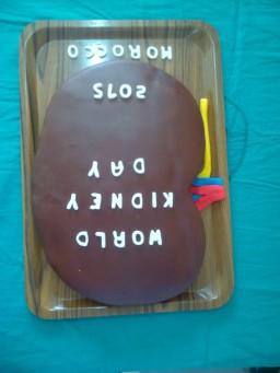 Cake to celebrate WKD by Moroccan Society of Nephrology