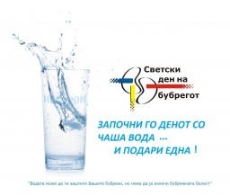 Drink a glass of water and give one too, Macedonian