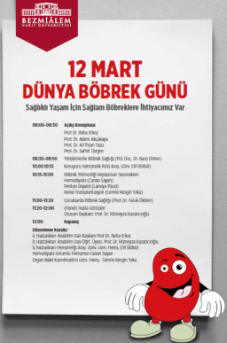 World Kidney Day in İstanbul, Bezmialem Vakif University