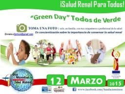 GREEN DAY -TODOS DE VERDE (DIA MUNDIAL DEL RIÑÓN, INC 2015)