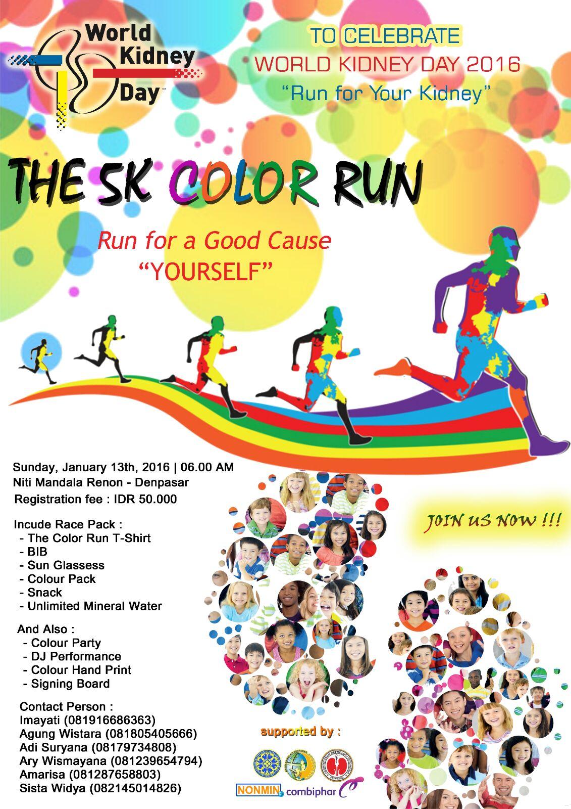 The 5k Color Fun Run World Kidney Day