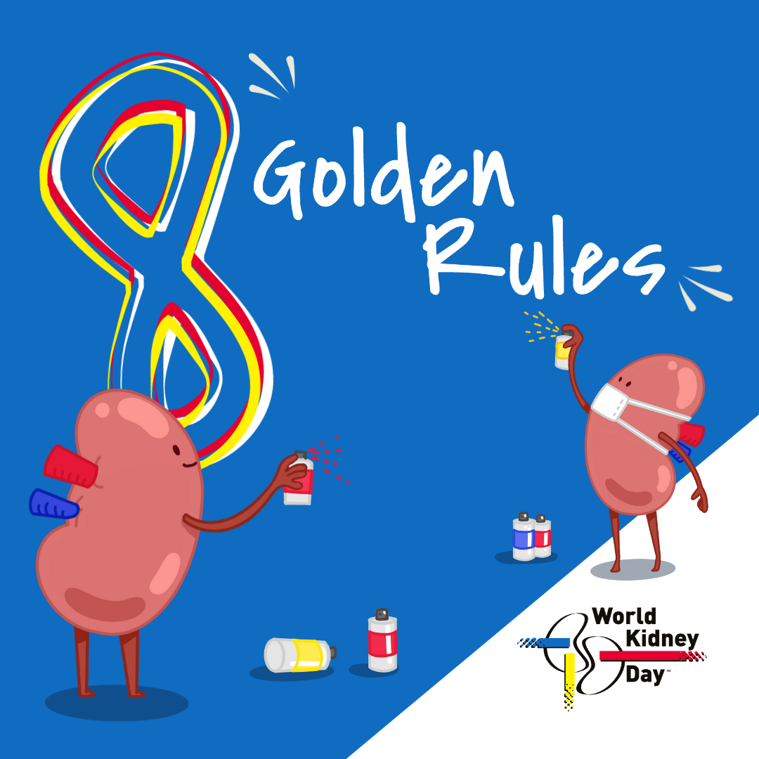 8 Golden Rules Animated Visuals World Kidney Day