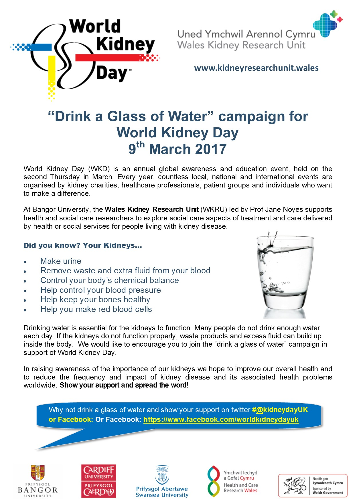 Drink a glass of water campaign