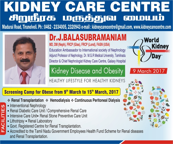 KIDNEY DISEASE AND OBESITY - World Kidney Day