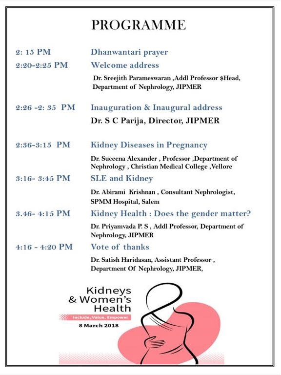World Kidney Day CME on Kidneys & Women's Health - World