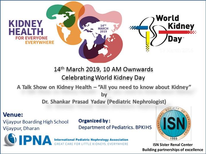A talk show on Kidney Health - World Kidney Day